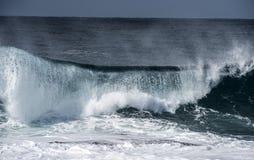 Wave breaking on coastline Royalty Free Stock Photo