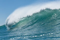 Wave breaking. A perfect wave breaking at Wainui beach, Gisborne, NZ stock images