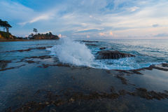 Wave Breaking Tide Pool Sunset Nature Neil Island Royalty Free Stock Images