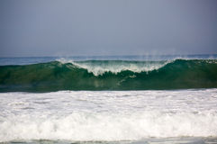 Wave breaking at Zicatela Mexican Pipeline Puerto Escondido Mexi Stock Images