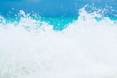 Wave breaks onto the shore. Nature royalty free stock photography