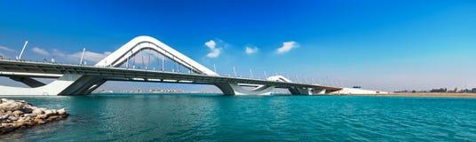 Wave Bridge Highway, Sheikh Zayed Bridge. Abu Dhabi, United Arab Emirates, Jan.2018 Royalty Free Stock Photo