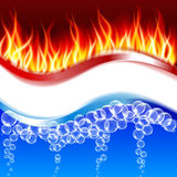 Wave of bubbles. Wave of bubbles and fire. Vector background for your design Royalty Free Stock Photo