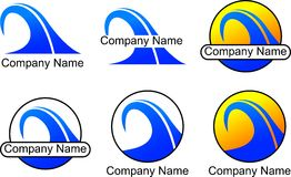 Wave Business Logo. Six different wave business logos in  format Royalty Free Stock Image