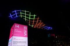 Wave Chandelier light at Vivid Sydney Stock Photo