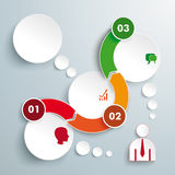Wave 3 Circles Timeline Infographic Royalty Free Stock Photos
