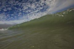 Wave Close Up & Cool Sky Stock Photo