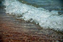 Wave closeup on sea Stock Photos