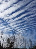 Wave clouds Royalty Free Stock Photo