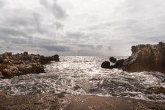 Wave on the coast Stock Photos