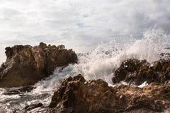Wave on the coast Royalty Free Stock Photo