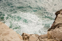 Wave on the coast. Of Mallorca Royalty Free Stock Images