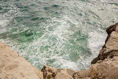 Wave on the coast. Of Mallorca Stock Photography