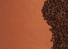 Wave of coffee beans Stock Images