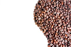 Wave of coffee beans with space for text Royalty Free Stock Photo