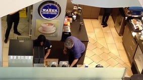 Wave coffee shop stock footage