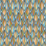 Wave colorful line seamless pattern Royalty Free Stock Photo
