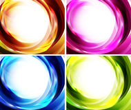 Wave color backgrounds Royalty Free Stock Image