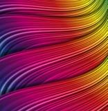 Wave  color decoration. Stock Images