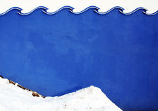 Wave color wall texture with snow. Stock Image