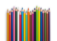 Wave of colored pencils Royalty Free Stock Photography