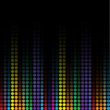 Wave colorful mosaic background.  Royalty Free Stock Photography