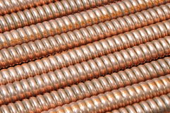 Wave copper cables Royalty Free Stock Photography
