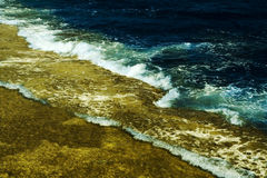 Wave on a coral reef Royalty Free Stock Photo