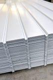 Wave corrugated steel sheet Stock Image