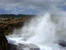 Wave crashing stock photo