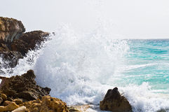 Wave crashing Royalty Free Stock Photo