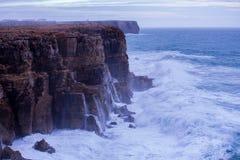 Wave crashing. Atlantic big wave crashing in the rocks Stock Images