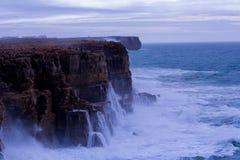 Wave crashing. Atlantic big wave crashing in the rocks Stock Photos