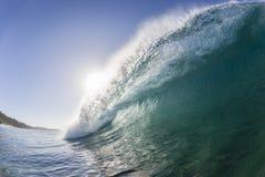 Wave Crashing Blue stock images