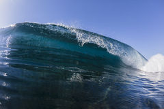 Wave Crashing Blue stock photos