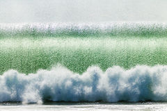 Wave Crashing Breaking Bubbles Stock Photo