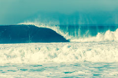 Wave Crashing Ocean Power Cross Process Stock Photography