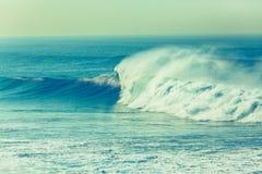 Wave Crashing Ocean Power Cross Process Royalty Free Stock Photography