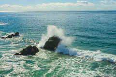 Wave Crashing on Pacific Coast Royalty Free Stock Images