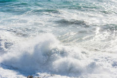 Wave crashing in Porto Ferro coast Royalty Free Stock Photography