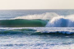 Wave Crashing Sandbank  Royalty Free Stock Image