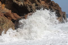 Wave Crashing on Shore Royalty Free Stock Image