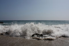 Wave Crashing on Shore Royalty Free Stock Image