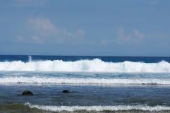 Wave crashing royalty free stock photo