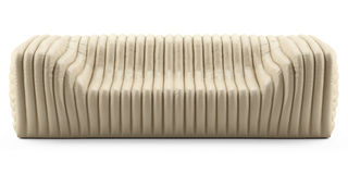 Wave cream sofa leather Royalty Free Stock Photography