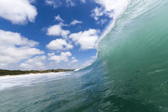 Wave cresting. Wave in the Far North of NZ about to break Royalty Free Stock Photo