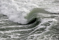 Wave curl. Pacific NW ocean wave curl royalty free stock photos