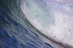 Wave Curl. Hawaiian Ocean Wave up close Royalty Free Stock Photo