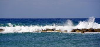 Wave on cyprus coast near paphos Royalty Free Stock Image