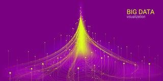Wave 3D Big Data Visualization. Analysis Infographic. royalty free illustration
